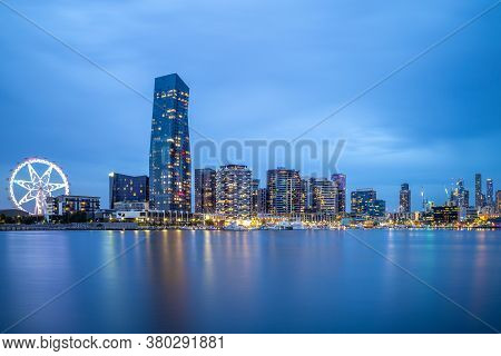 Scenery Of Melbourne City Business District (cbd), Australia