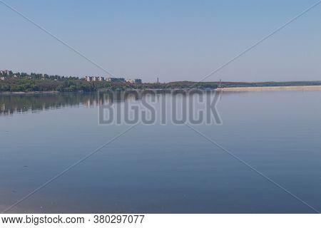 View On The Svetlovodsk City On The Shore Of Kremenchug Reservoir On The River Dnieper In Ukraine