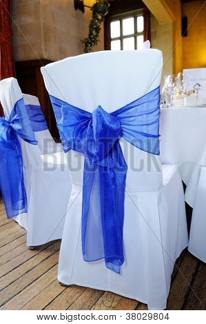 Blue Ribbon Chair Cover