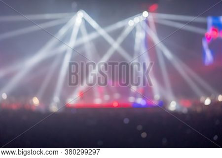 Blur Music Brand Showing On Stage Or Concert Live And Defocused Entertainment Concert Lighting On St