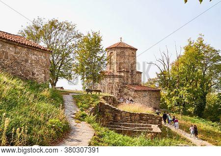 Nekresi, Georgia - October 20, 2019: Orthodox Church In Nekresi Monastery Located In Georgia. Old Ho