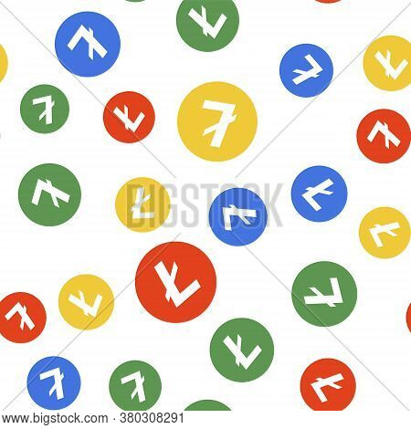 Color Cryptocurrency Coin Litecoin Ltc Icon Isolated Seamless Pattern On White Background. Digital C