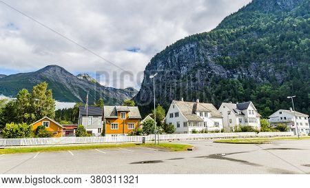 Townscape Sylte Or Valldal Administrative Center Of Norddal Municipality, More Og Romsdal Norway, Wi