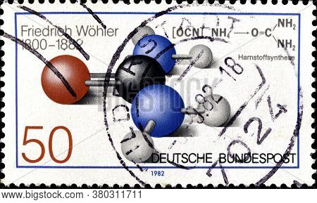 02 11 2020 Divnoe Stavropol Territory Russia The German Postage Stamp 1982 The 100th Anniversary Of