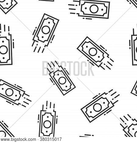 Money Stack Icon In Flat Style. Exchange Cash Vector Illustration On White Isolated Background. Bank