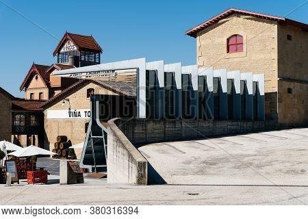 Haro, Spain - August 6, 2020: Tondonia Winery Pavilion By Zaha Hadid Architects