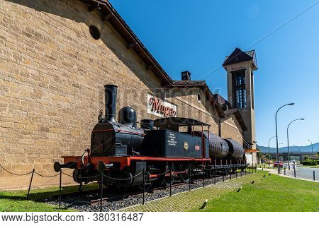 Haro, Spain - August 6, 2020: Old Train In Muga Winery