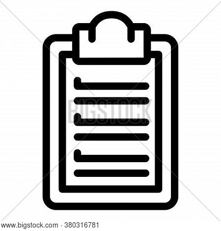Task Planning Icon. Outline Task Planning Vector Icon For Web Design Isolated On White Background