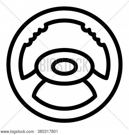 Car Steering Wheel Icon. Outline Car Steering Wheel Vector Icon For Web Design Isolated On White Bac