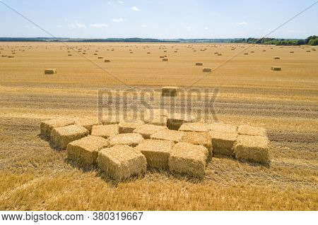 Round Bales Are Bales Of Hay, Straw Or Forage Rolled In The Shape Of A Large Cylinder. When The Legu