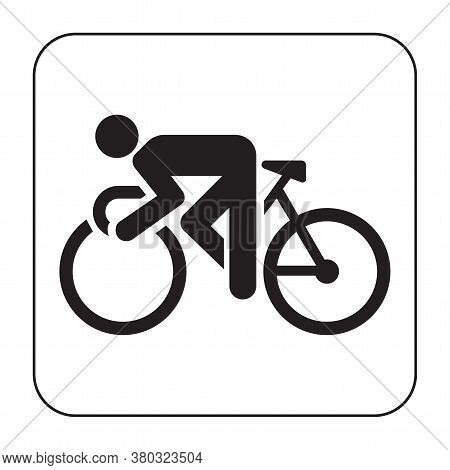 Bicyclist - Black Vector Icon And Ten Icons In Shades Of Grey