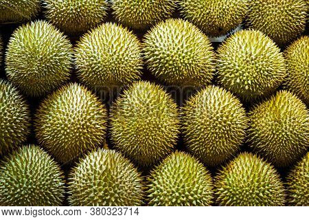 Durian Fruits On Market Stand - Durian Fruit