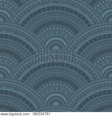 Moroccan Fish Scale Wallpaper Design Vector Seamless Pattern. Oriental Motifs Intricate Repeating Il
