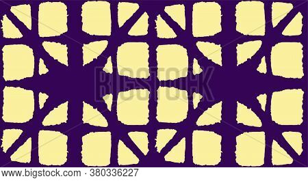 Japanese Tie Dye Seamless Pattern. Geometric Bohemian Asian Tie Dye Print. Vintage Shibori Seamless
