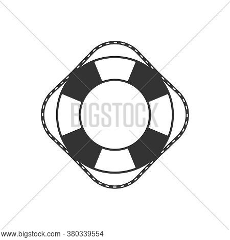 Lifebuoy Graphic Icon. Ship Lifebuoy Sign Isolated On White Background. Symbol Salvations. Vector Il