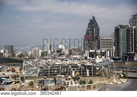 Lebanon - 8 6 2020: Beirut Blast | Port of Beirut Destruction after the Massive Explosion