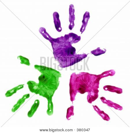 3 Painted Hands
