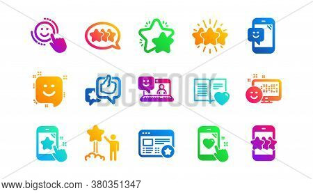 User Opinion, Customer Service And Star Rating. Feedback Icons. Customer Satisfaction Classic Icon S
