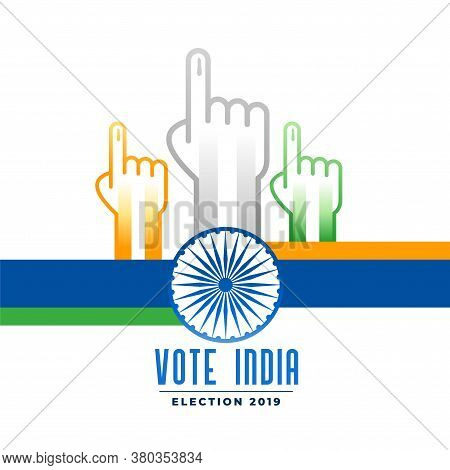 Voting And Polling Indian Election Campain Poster Vector Design Illustration