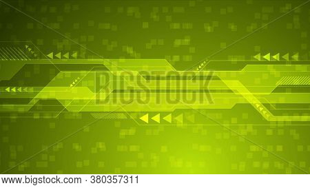 Green geometric technology abstract background