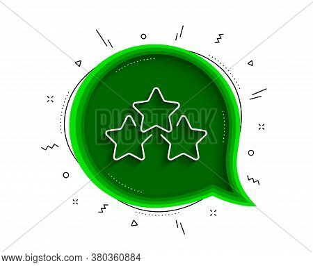 Ranking Stars Line Icon. Chat Bubble With Shadow. Star Rating Sign. Best Rank Symbol. Thin Line Rank