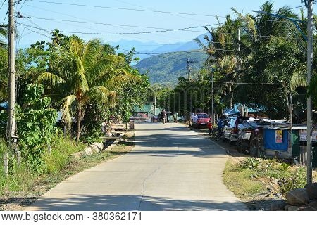 Aurora, Ph - April 21 - Road With Trees On April 21, 2019 In Dingalan, Aurora, Philippines.
