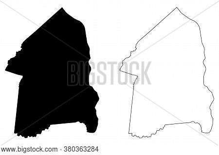 Boyd County, Kentucky (u.s. County, United States Of America, Usa, U.s., Us) Map Vector Illustration