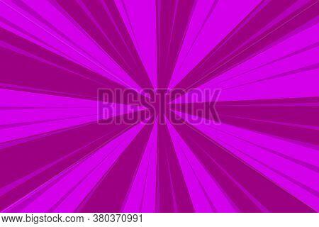Vector Background From Burst Rays. Raspberry Rays. Striped Crimson Background.