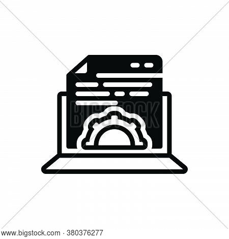 Black Solid Icon For Content-management Gratified Willing Cms Contented Fulfilled Development Respon