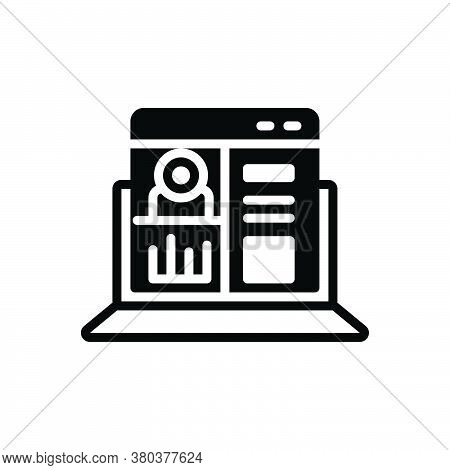Black Solid Icon For Admin-panel Admin Panel Configure Preferences Application Barcode Software Prog