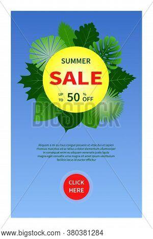 Summer Sale Vector Banner Design Promotion Colorful Elements Sale Banner Special Offer Set Use For D
