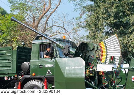 Kolkata, West Bengal, India - 26th January 2020 : Truck Carrying The Flycatcher Radarsystem, A Short
