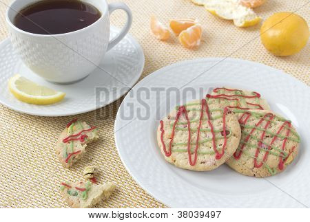 Christmas Cookies And A Cup Of Tea