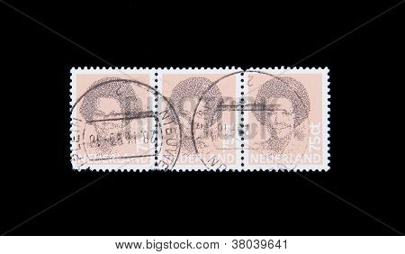 Holland - Circa 1990: Stamps Printed By Holland, Shows The Head Of State, Queen Beatrix, Circa 1990