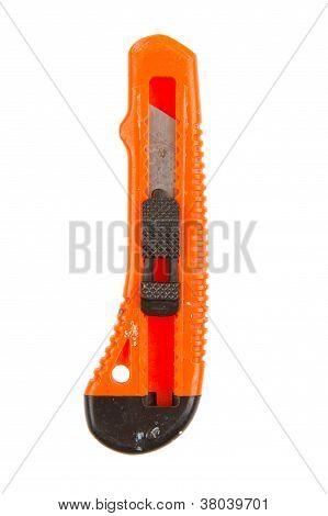 Old Used Orange Knife