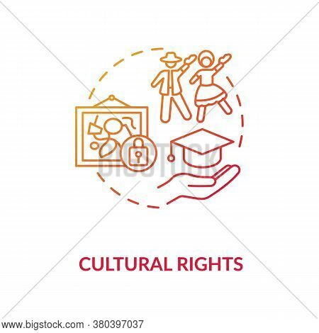 Cultural Rights Concept Icon. Cultural Heritage Protection Idea Thin Line Illustration. Science And