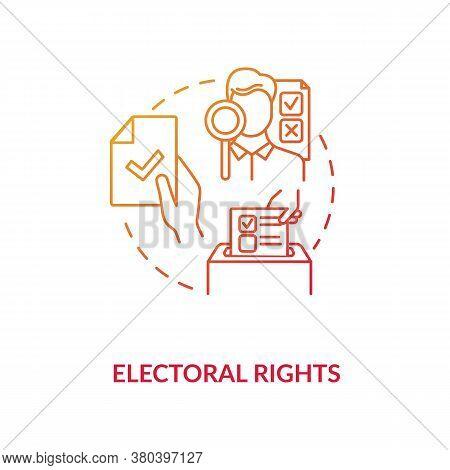 Electoral Rights Concept Icon. Right To Vote Idea Thin Line Illustration. Suffrage. Government. Pres