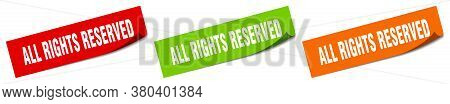All Rights Reserved Sticker. All Rights Reserved Square Isolated Sign
