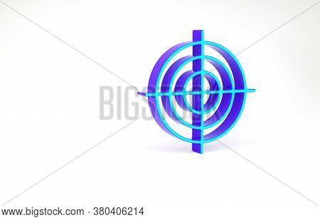 Turquoise Target Sport For Shooting Competition Icon Isolated On White Background. Clean Target With