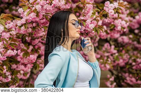 Cherry Blossom Aroma. Female Perfume. Spring Perfume. Fancy Style. Aromatic Compounds. Natural Fragr