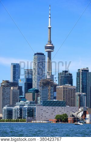 TORONTO / CANADA - JUNE 22. 2019: Toronto city is fourth most populous city in North America and capital of Ontario Province.