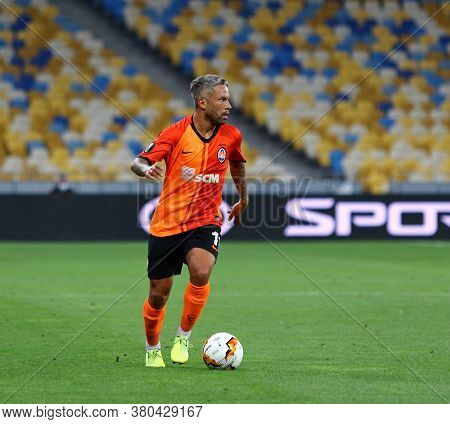 Kyiv, Ukraine - August 5, 2020: Marlos Of Shakhtar Donetsk In Action During The Uefa Europa League G