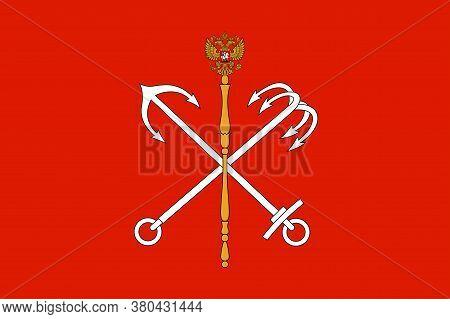 Flag Of Saint Petersburg In Russian Federation