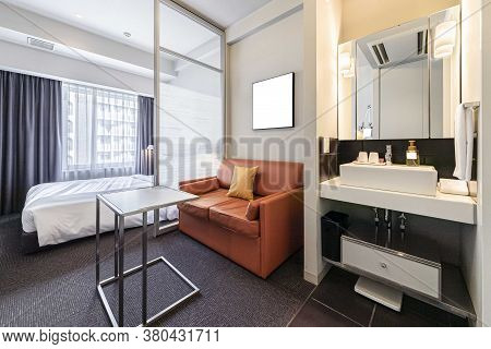 Pictures Of Living Rooms And Bedrooms In A Modern Suite At A Urban Condominium