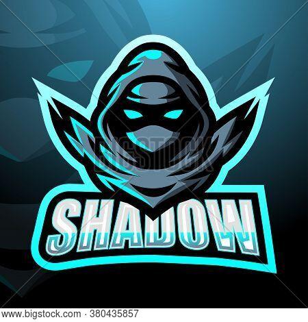Vector Illustration Of Shadow Mascot Esport Logo Design