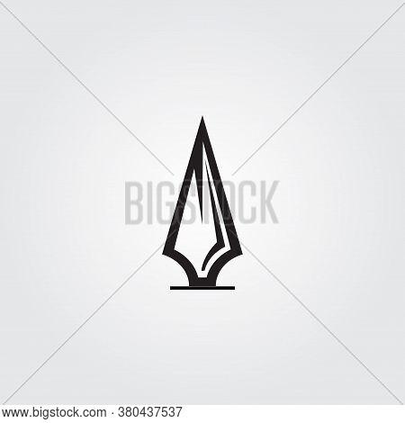 Spear Monogram Logo Design Vector, Spear Icon Black