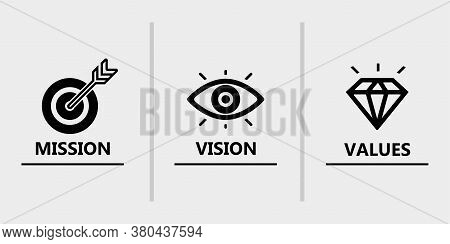 Mission Vision Values Icon Design Vector For Multiple Use