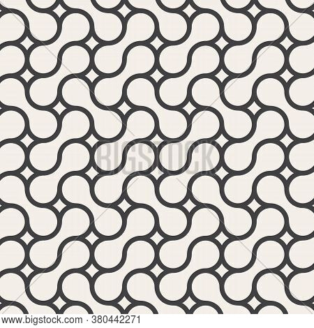 Vector Seamless Pattern. Modern Stylish Texture. Repeating Geometric Tiles From Smooth Elements.patt