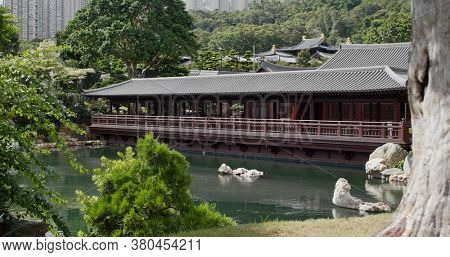 Diamond Hill, Hong Kong 16 July 2020: Chi Lin Nunnery in Hong Kong
