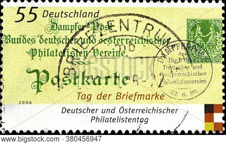 02 10 2020 Divnoe Stavropol Territory Russia The Postage Stamp Germany 2006 Day Of The Stamp Old Sta